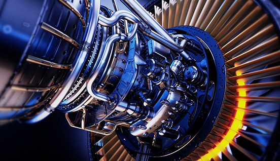Gewindeschneider Turbinen der Luftfahrt